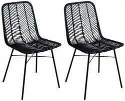 Rowico Maya Rattan Black Dining Chair (Pair)