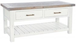 Rowico Purbeck Distressed White 2 Drawer Coffee Table