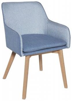 Clearance - Rowico Louise Fabric Chair - Blue - New - FSS9002