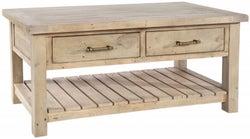Rowico Saltash Reclaimed Pine 2 Drawer Coffee Table