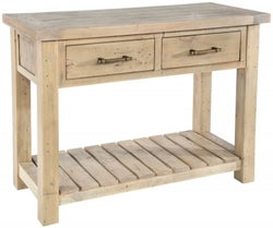 Rowico Saltash Reclaimed Pine 2 Drawer Console Table