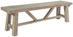 Rowico Saltash Reclaimed Pine Large Dining Bench