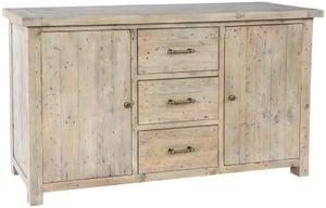 Rowico Saltash Reclaimed Pine 2 Door 3 Drawer Sideboard