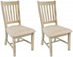 Rowico Saltash Reclaimed Pine Slatted Dining Chair (Pair)