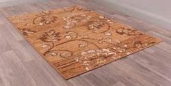 Designer Poly Verso Gold Polypropylene Rug