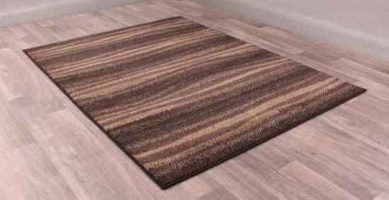 Modern Poly Waves Chocolate Polypropylene Rug
