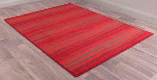 Modern Poly Waves Red Polypropylene Rug