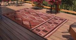 Outdoor Oasis Terracotta Polypropylene Rug