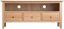 Appleby Oak 3 Drawer TV Unit