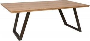 Calgary 180cm Rustic Oak and Metal Dining Table