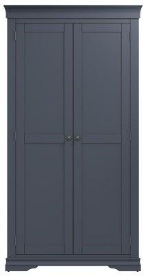 Chantilly Midnight Grey Painted 2 Door Wardrobe