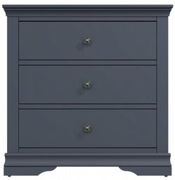 Chantilly Midnight Grey Painted 3 Drawer Chest