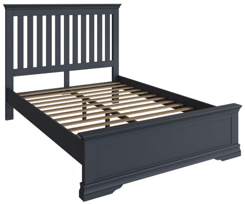 Chantilly Midnight Grey Painted Bed