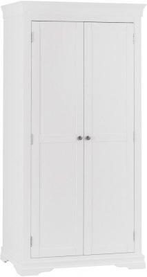 Chantilly White Painted 2 Door Wardrobe