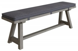 Coniston Grey Oak 160cm Dining Bench with Cushion