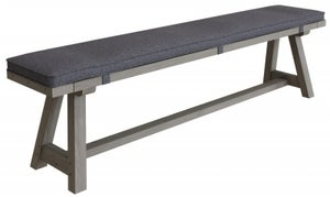 Coniston Grey Oak 200cm Dining Bench with Cushion
