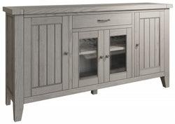 Coniston Grey Oak 4 Door Large Sideboard