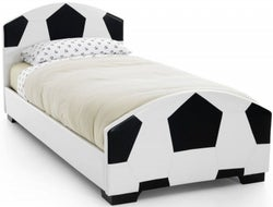 Serene Pallone 3ft Football Bed - Black and White Faux Leather