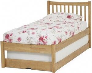 Serene Alice Hevea Wood Honey Oak Guest Bed