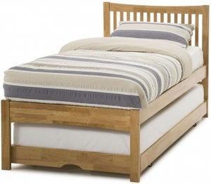 Serene Mya Hevea Wood Honey Oak Guest Bed