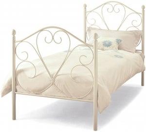 Serene Isabelle 3ft White Metal Bed
