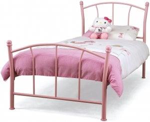 Serene Penny 3ft Pink Metal Bed