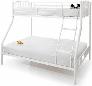 Serene Oslo Sleeper White Metal Bunk Bed