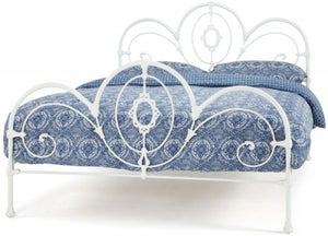 Serene Harriet White 5ft Metal Bed