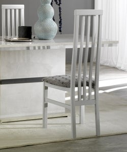 Angelo Grey Marble Italian Wooden Dining Chair (Pair)