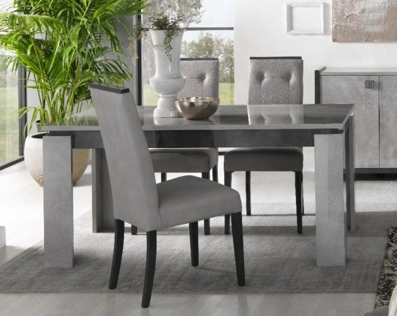 Milo Grey Marble Effect Italain Extending Dining Table