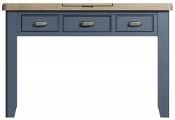 Ringwood Blue Painted Dressing Table - Oak Top