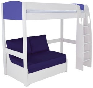 Stompa Blue High Sleeper with Double Sofa Bed