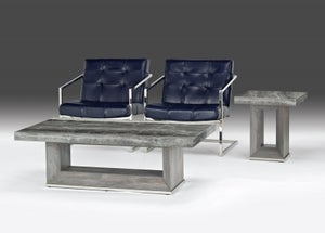 Stone International Blade Occasional Tables - Marble and Polished Stainless Steel