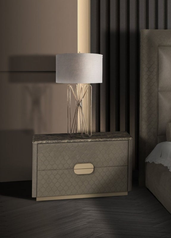 Stone International Marylin Marble Bedside Table
