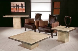 Stone International Parthenon Marble Occasional Table