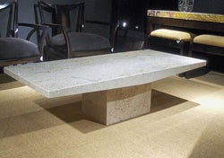 Stone International Roma Boat Edge Marble Occasional Table