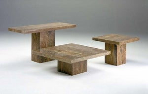 Stone International Roma Boxed Edge Marble Occasional Table