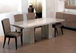 Stone International Roma Chiseled Edge Marble Dining Table