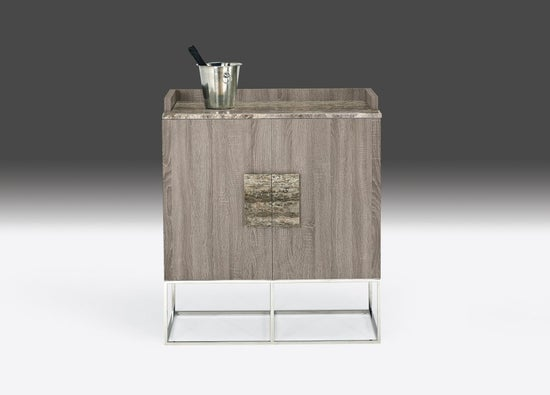 Stone International Tribeca Marble and Metal Bar Unit