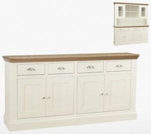 TCH Coelo 4 Door 4 Drawer Large Sideboard - Oak and Painted