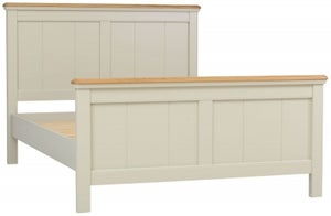 TCH Cromwell T and G Panel Bed - Oak and Painted