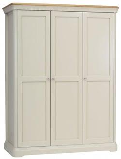 TCH Cromwell 3 Door Wardrobe - Oak and Painted