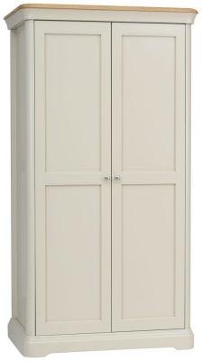 TCH Cromwell 2 Door Wardrobe - Oak and Painted