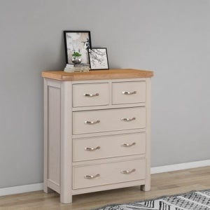 Clarion Oak and Grey Painted 2+3 Drawer Chest