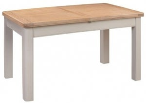 Clarion Oak and Grey Painted Butterfly Extending Dining Table