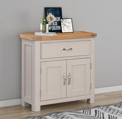 Clarion Oak and Grey Painted Compact Sideboard