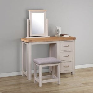 Clarion Oak and Grey Painted Dressing Table Set