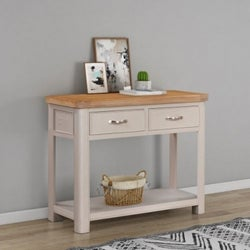 Clarion Oak and Grey Painted Large Console Table