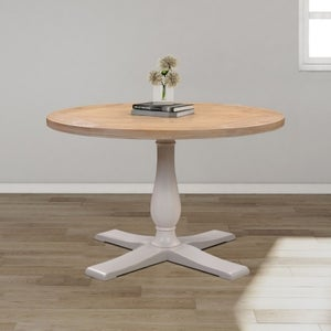 Clarion Oak and Grey Painted Round Dining Table