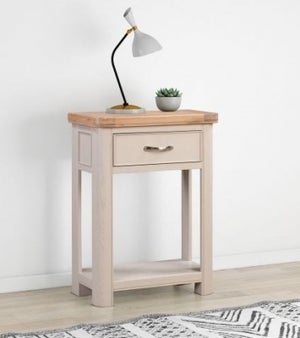 Clarion Oak and Grey Painted Small Console Table